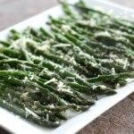 Parmesan Crusted Garlic Asparagus
