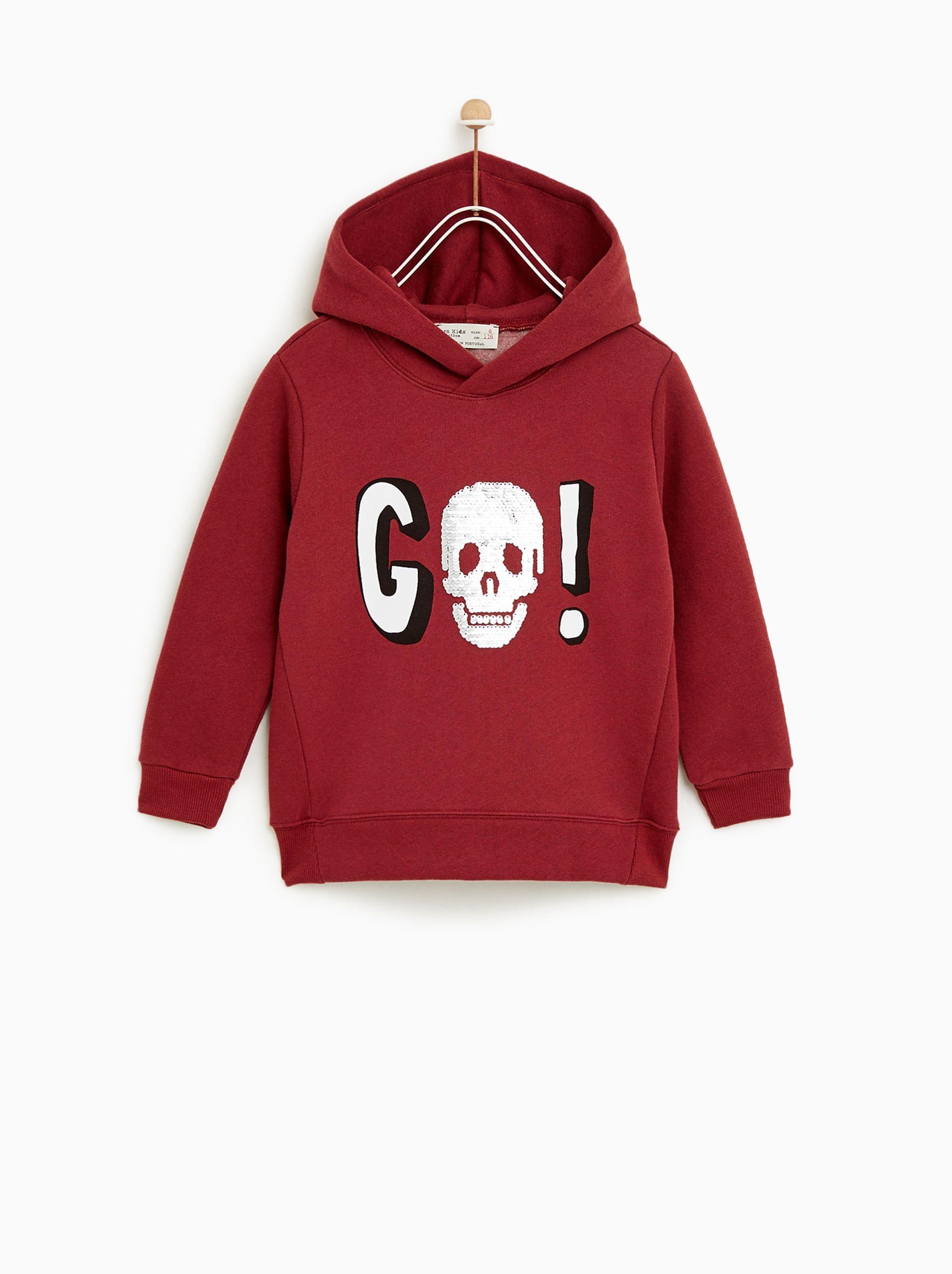 ba4e1758 Image 1 of SKULL SWEATSHIRT from Zara | D2-KB | Sweatshirts, Skull ...