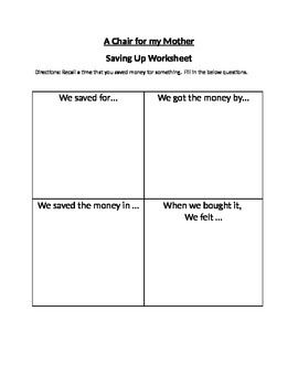 A Chair for My Mother This is a worksheet that can be used along side my other A Chair for my Mother products.  sc 1 st  Pinterest & A Chair for My Mother This is a worksheet that can be used along ...