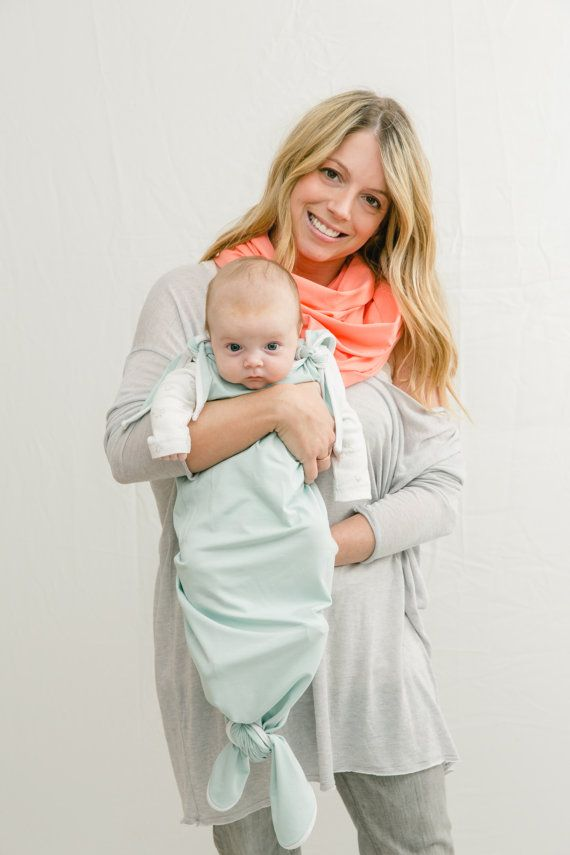 Bamboo Sleep Sack   0-6 Months Knotted Wearable Baby Blanket Bunting ...