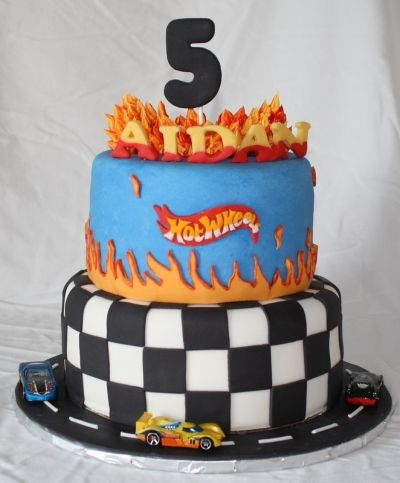 Hot Wheels car birthday cake  By susanssweetdreams on CakeCentral.com