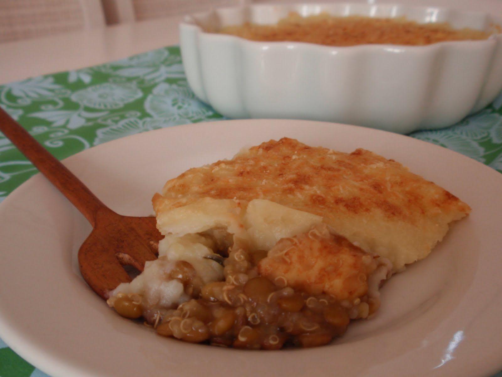 Torta de Lentilha e Quinua com Batata