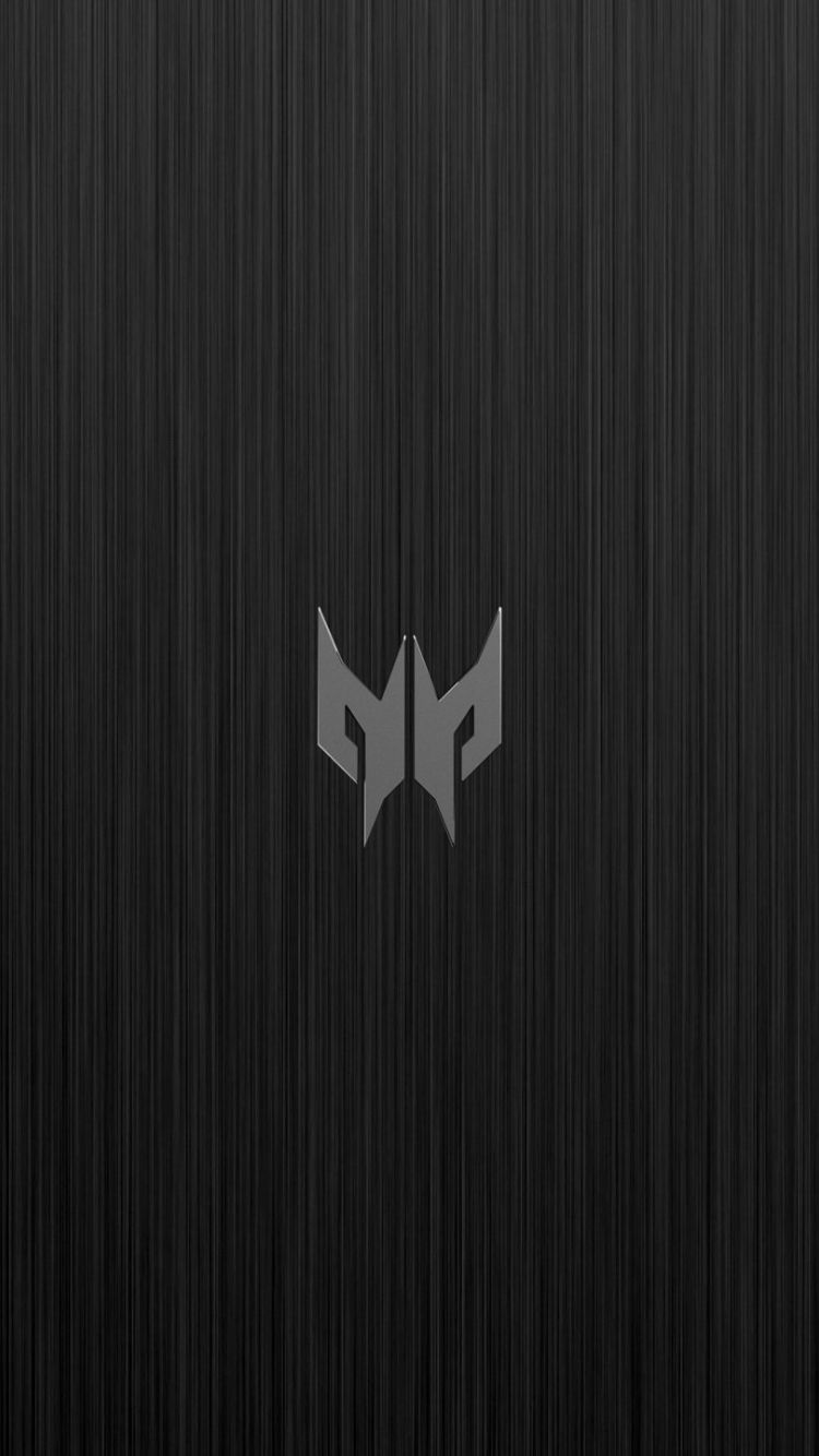 Acer Predator Logo On Brushed Metal 750 X 1334 Wallpaper