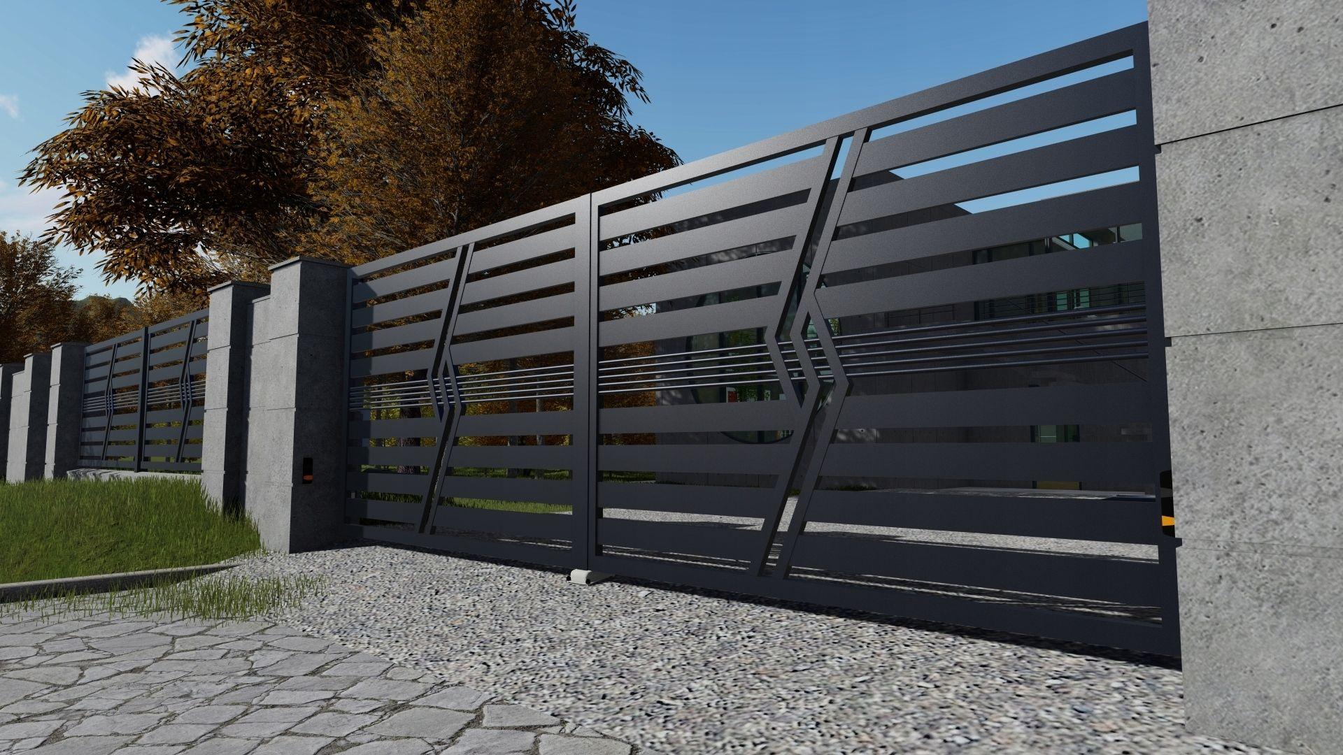 Nowoczesne Ogrodzenia Panelowe Ploty 369 8818440540 Allegro Pl Entrance Gates Design Gate Design House Gate Design