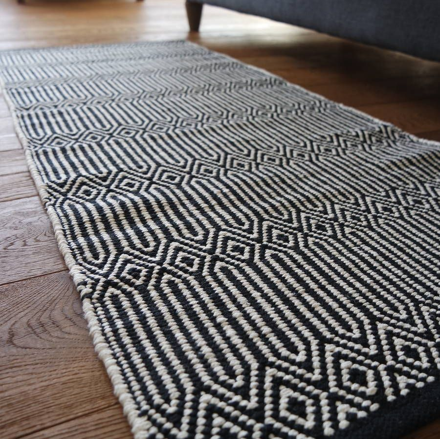 Are You Interested In Our Cotton Runner Rug With Our Grey And White Runner You Need Look No Further Rug Runner Hallway Cotton Runner Long Bathroom Rugs