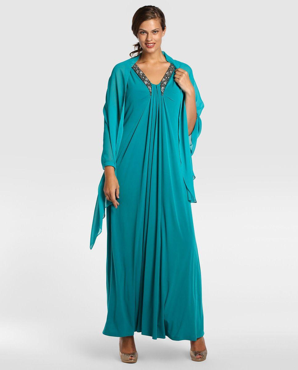 f57ce42ba Vestido de fiesta de mujer talla grande Couchel con pedrería · Couchel ·  Moda · El