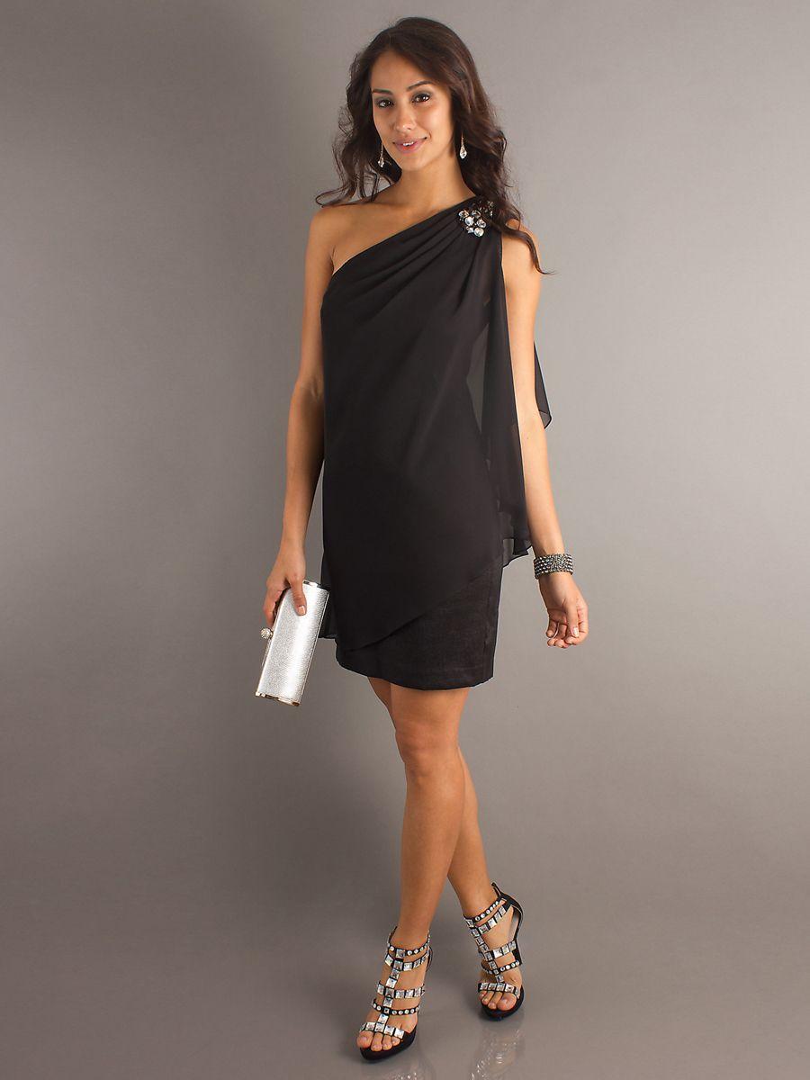 Black Dress For Wedding Reception