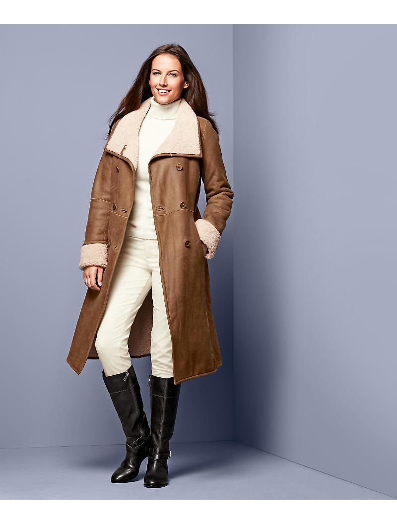 Shearling Coat Talbots Clothes For Women Seattle Fashion Clothes [ 1057 x 800 Pixel ]