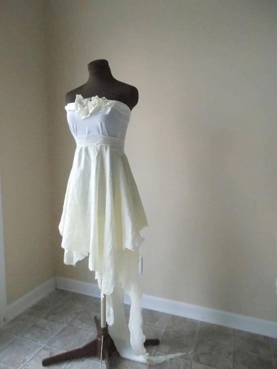 Ethereal Wedding Dress Fairy Pixie Bohemian Wispy Fantasy Bride Alternative One Of A Kind Bridal Gown