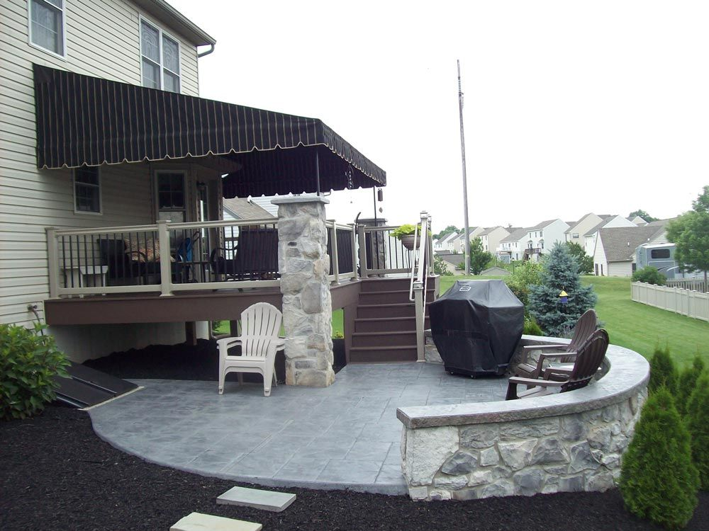Shade Your Outdoor Deck And Patio Area With A Custom Stationary Canopy By  Kreideru0027s Canvas Service