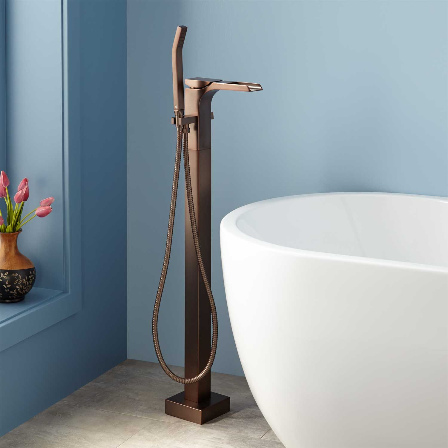 Willis Freestanding Waterfall Tub Faucet | Faucet, Tubs and Oil ...