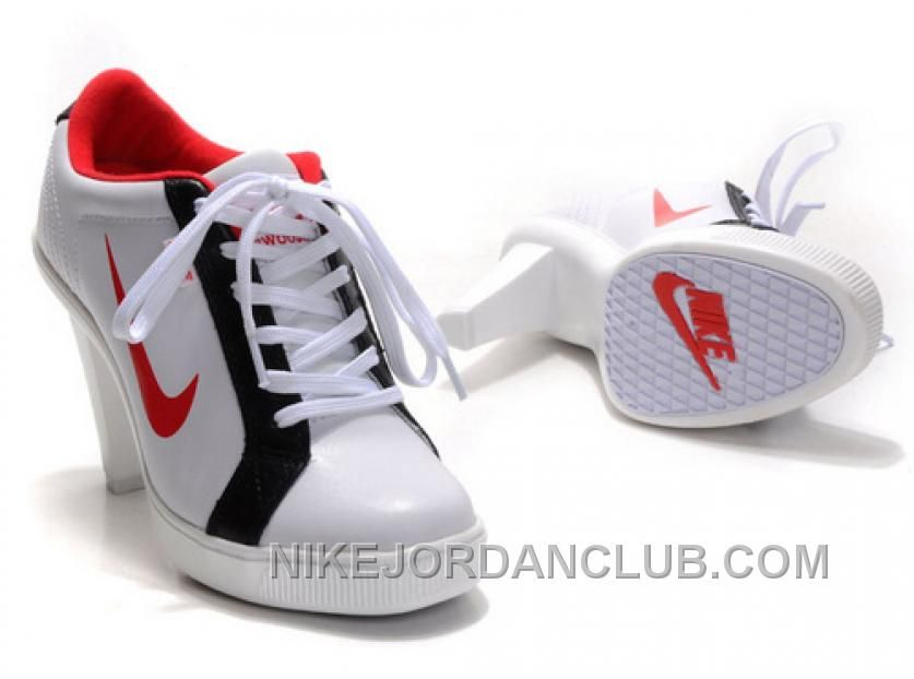 http://www.nikejordanclub.com/womens-nike-dunk-high-heels-low-shoes-white-black-red-for-sale.html WOMEN'S NIKE DUNK HIGH HEELS LOW SHOES WHITE/BLACK/RED FOR SALE Only $105.52 , Free Shipping!