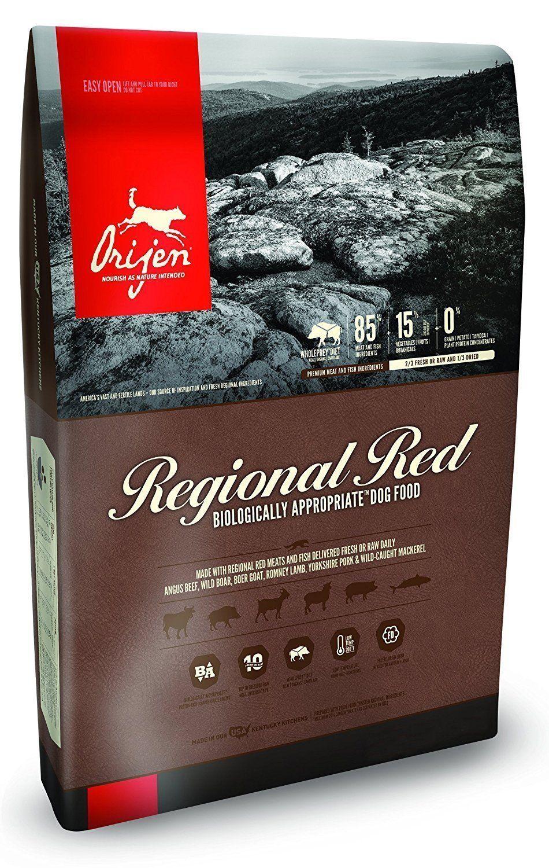 Orijen Regional Red Dry Dog Food 25 Pound Bag, made ANGUS