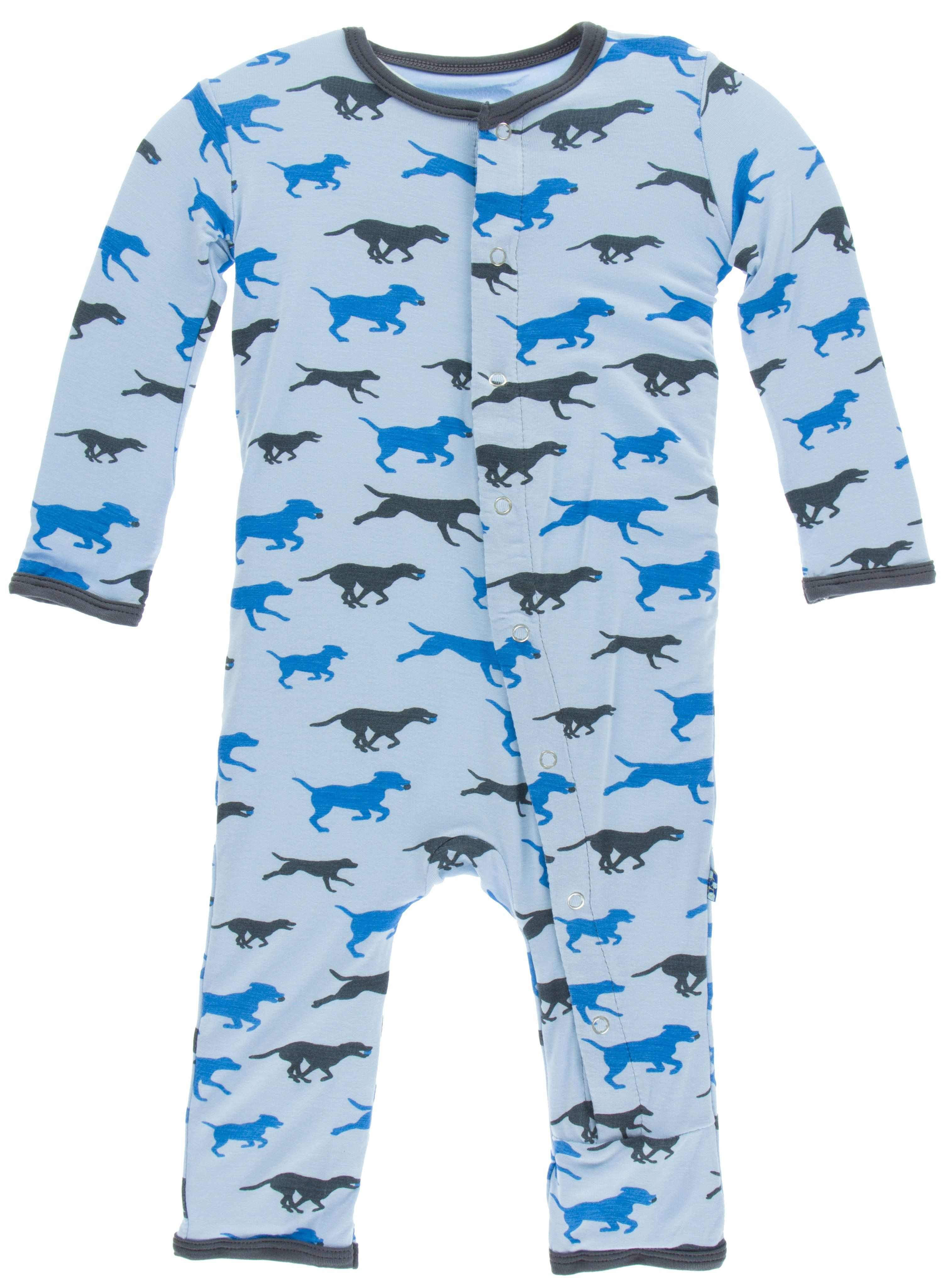 4a97bf8f2 KicKee Pants Pond Running Labs Print Fitted Coverall w Snaps ...