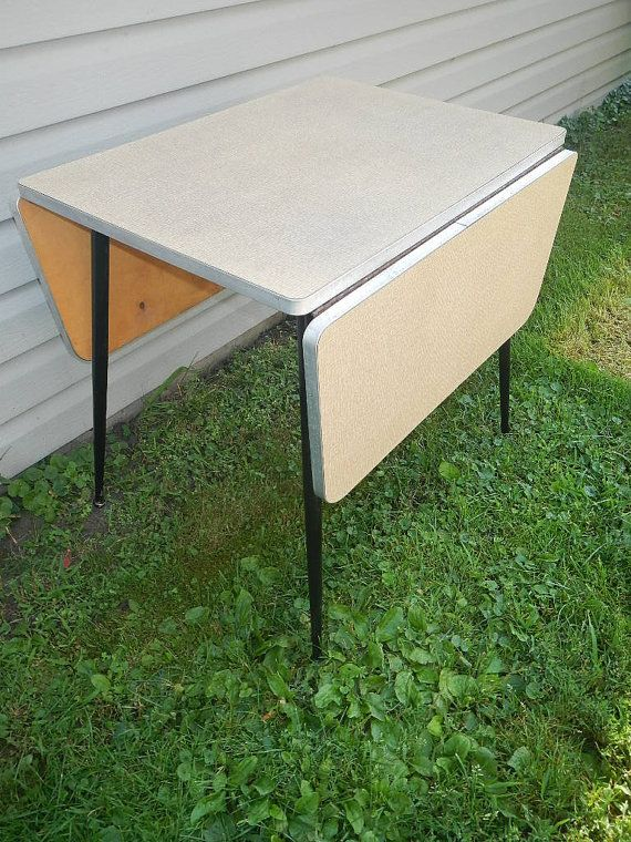 Vintage Formica Table With Leave Mid Century Modern Retro Accent - Mid century modern formica table