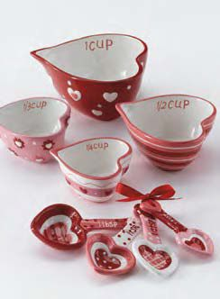 Ceramic Heart Shaped Nesting Measuring Cups And Spoons Great Valentine S Day Gift Measuring Cups Spoons Nesting Measuring Cups Measuring Cups