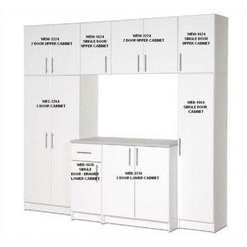 Superior Prepac Elite Garage/Laundry Room Storage Cabinet   8 Foot Wide