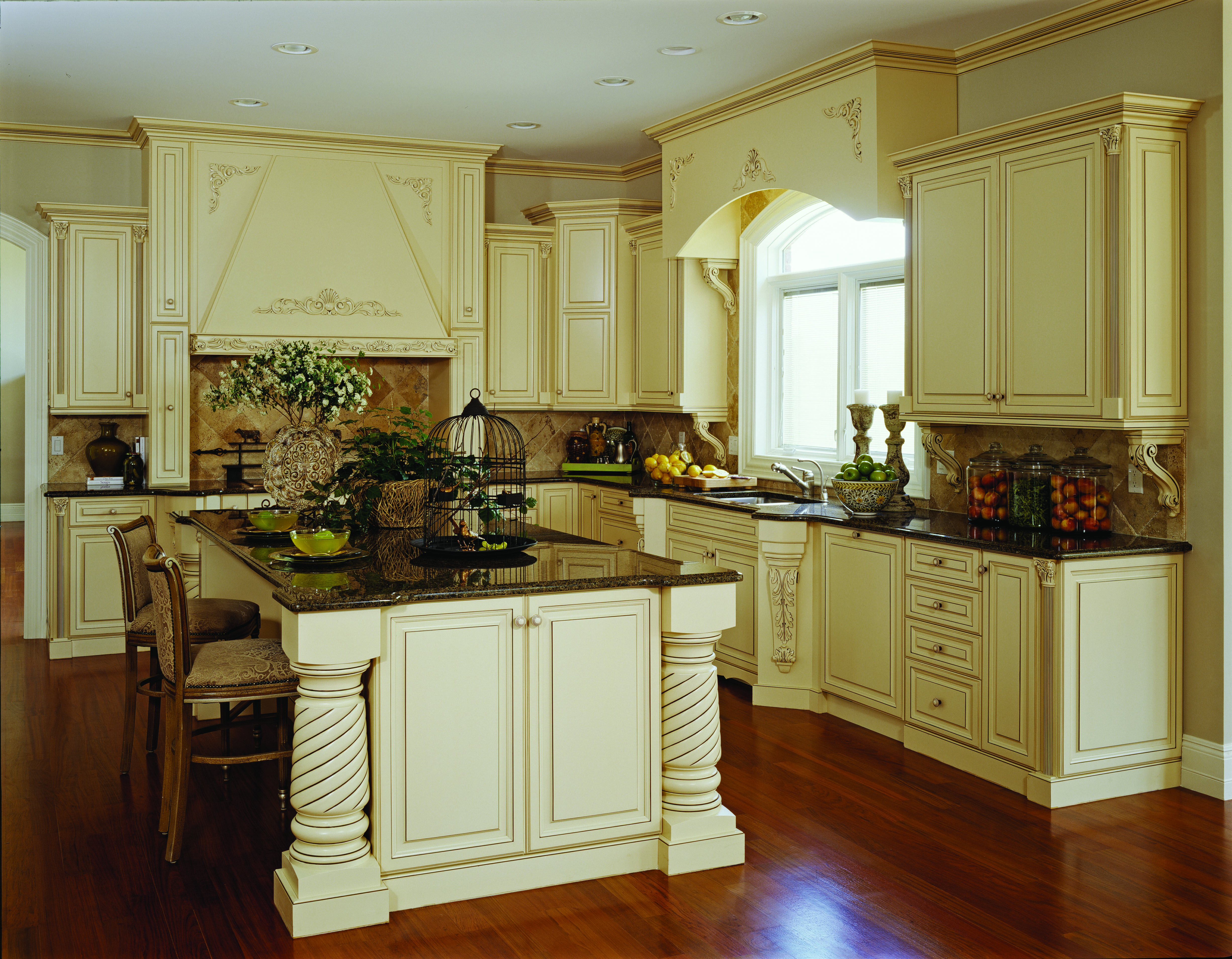 A Traditional Style Kitchen Done By LaFata Cabinets. #custom #cabinets # LaFata #