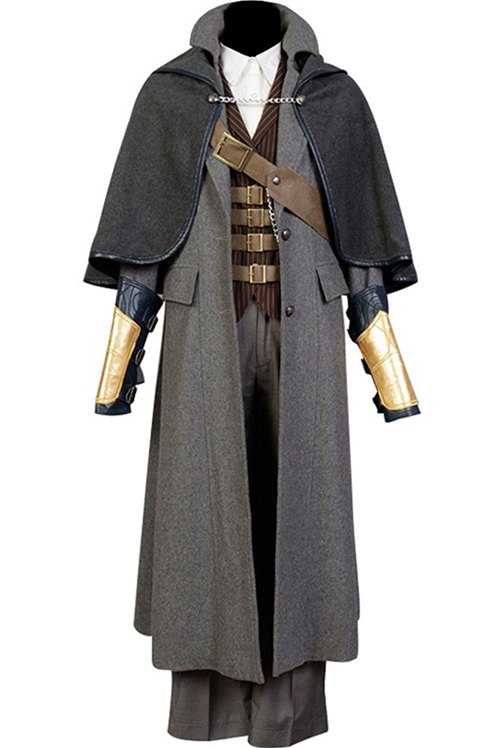 Bloodborne The Hunter Set Cosplay Costume Jacket Coat Outfit Suit Tricorn Hat