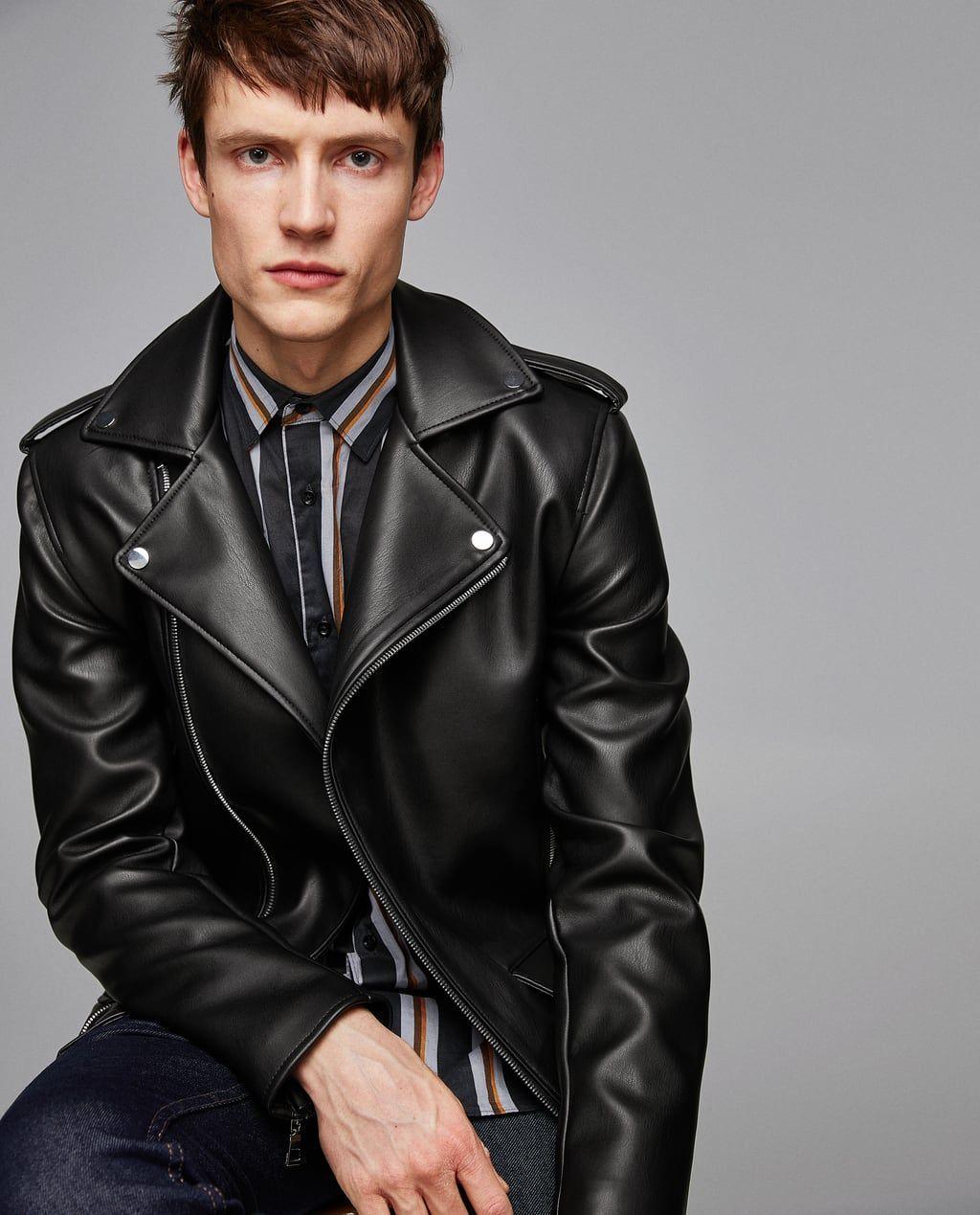 meilleures baskets 85985 2ed3f Blouson de motard à pins | Leather & Jeans - Men | Jackets ...