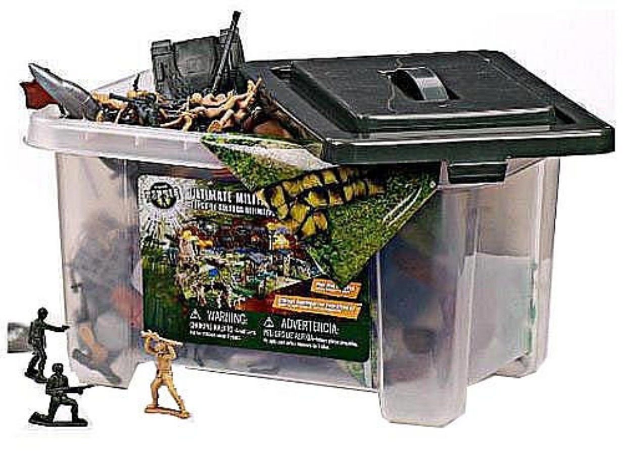 True Heroes Ultimate Military Playset 100 Piece Set With Storage