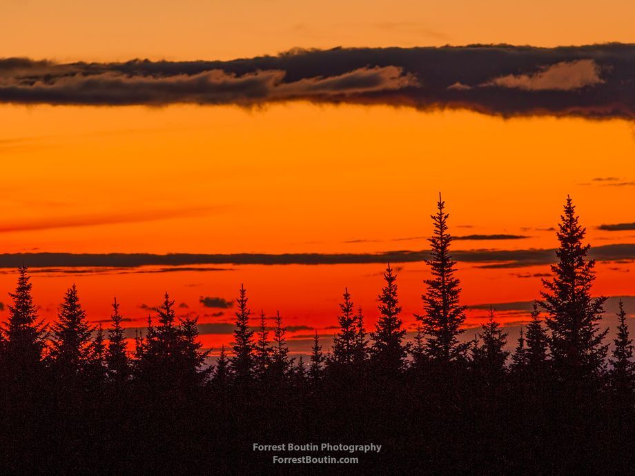 Canadian Fireset A Sunset Of Fire In The Hills Of Quebec Canada