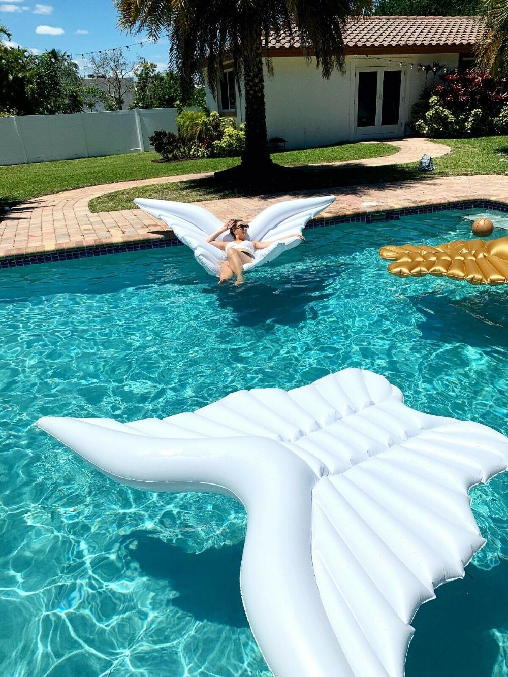Angel Wing Pool Float Butterflies Wings Pool Party Wedding Mattress Luxury White Ebay In 2021 Wedding Pool Party Luxury Pool Floats Pool Party
