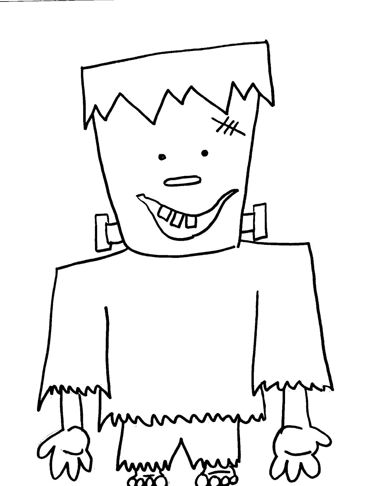 frankenstein coloring page for halloween halloween fun
