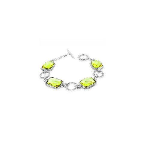 CZ Peridot Links Bracelet