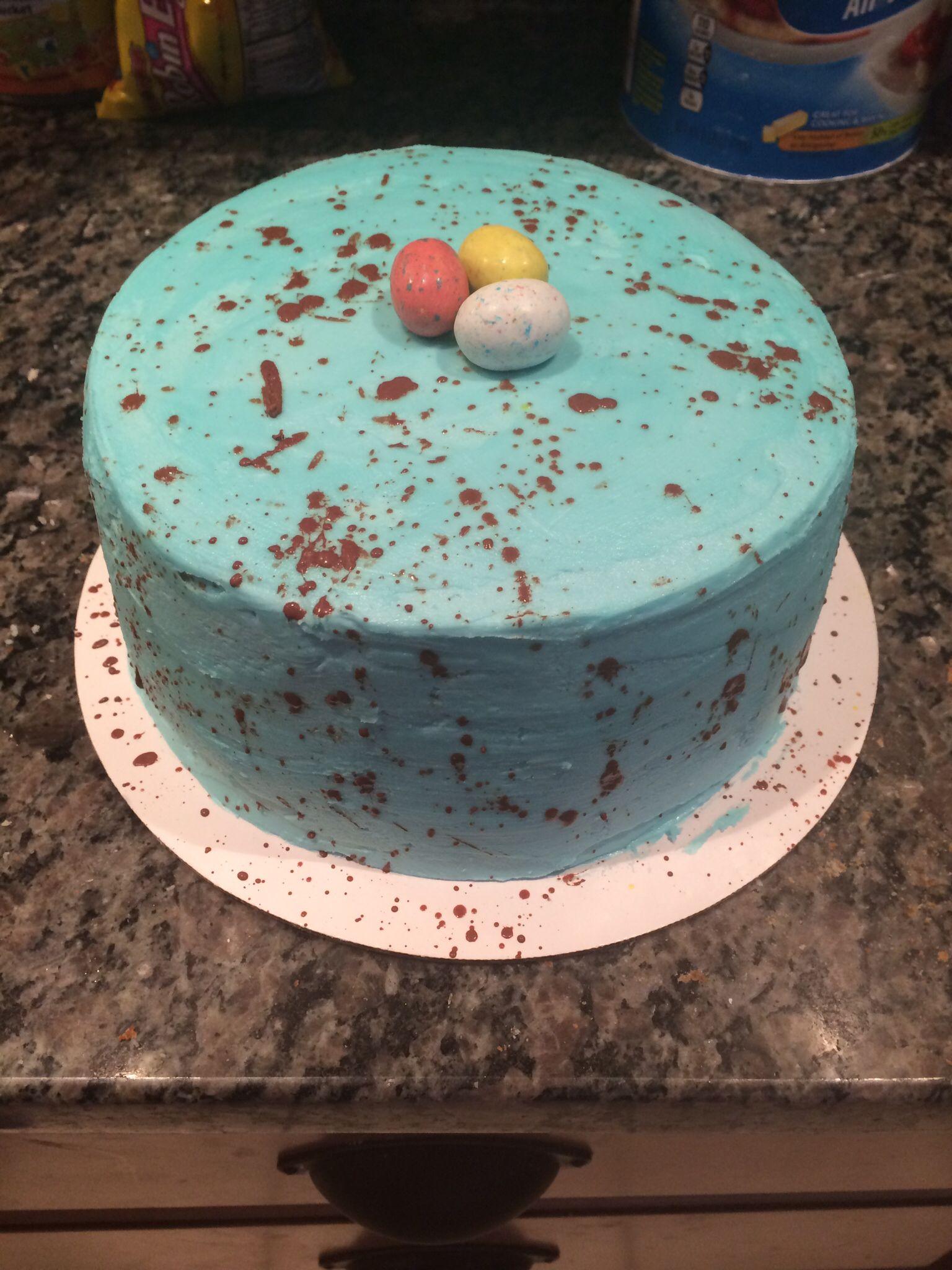 Robin egg Easter cake