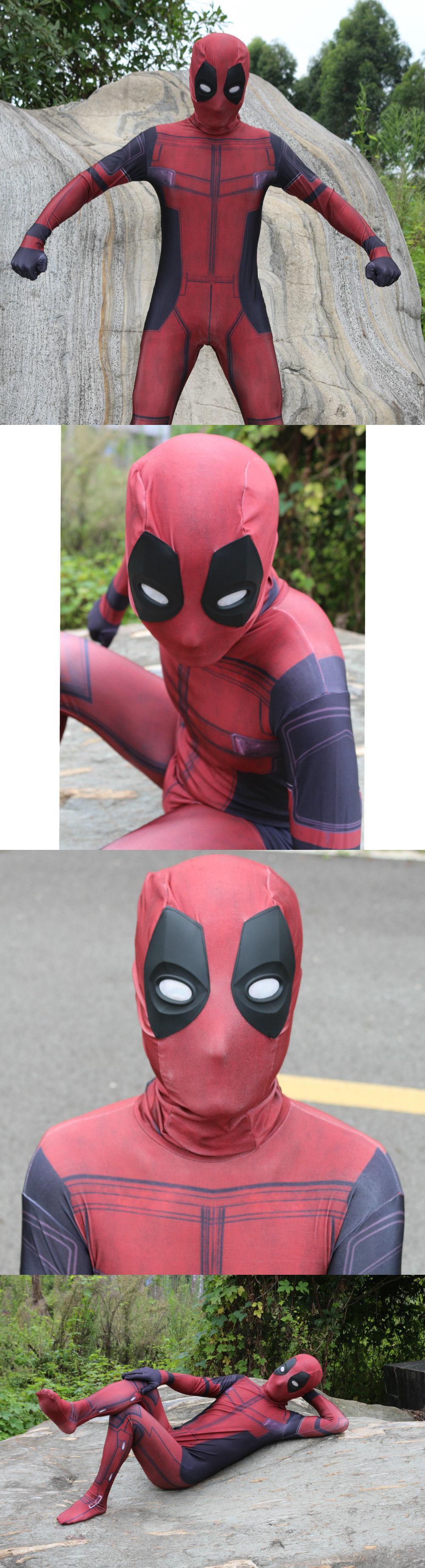 Men 52762: Deadpool Costume Adult Man Spandex Lycra Zentai ...
