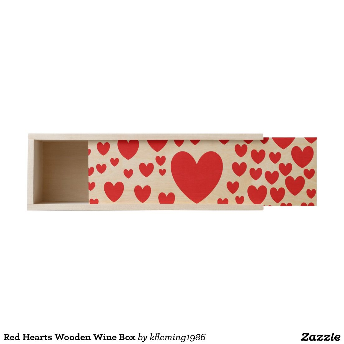 Red Hearts Wooden Wine Box Red Gift Box Wine Gift Boxes Wooden Wine Boxes