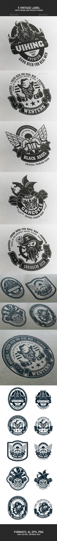 5 Vintage Label #label #design Download: http://graphicriver.net/item/5-vintage-label/10644598?ref=ksioks