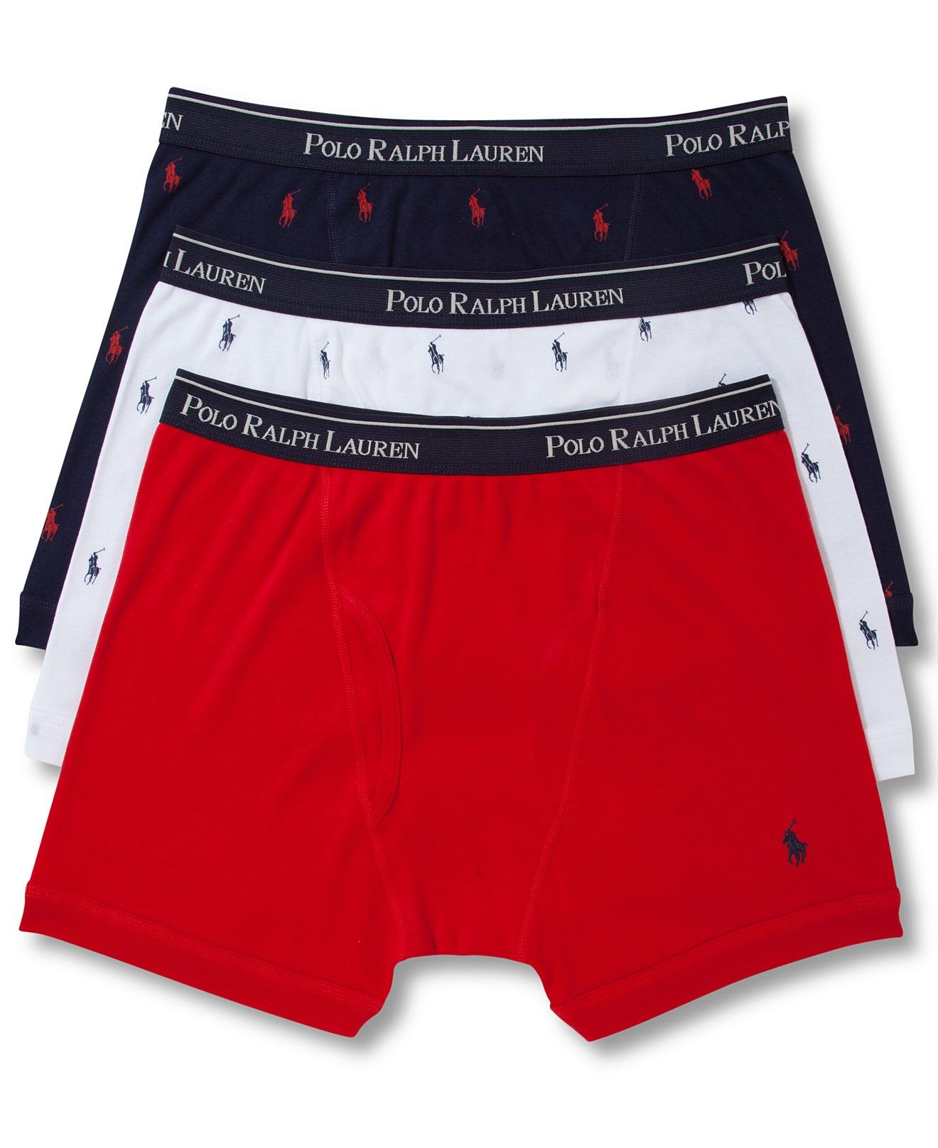 abf7ed0c074076 Polo Ralph Lauren Men's Underwear, Boxer Briefs 3 Pack - Underwear - Men -  Macy's