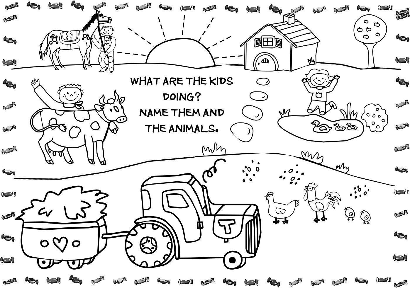 Free Printable Farm Animal Coloring Pages For Kids within Printable ...