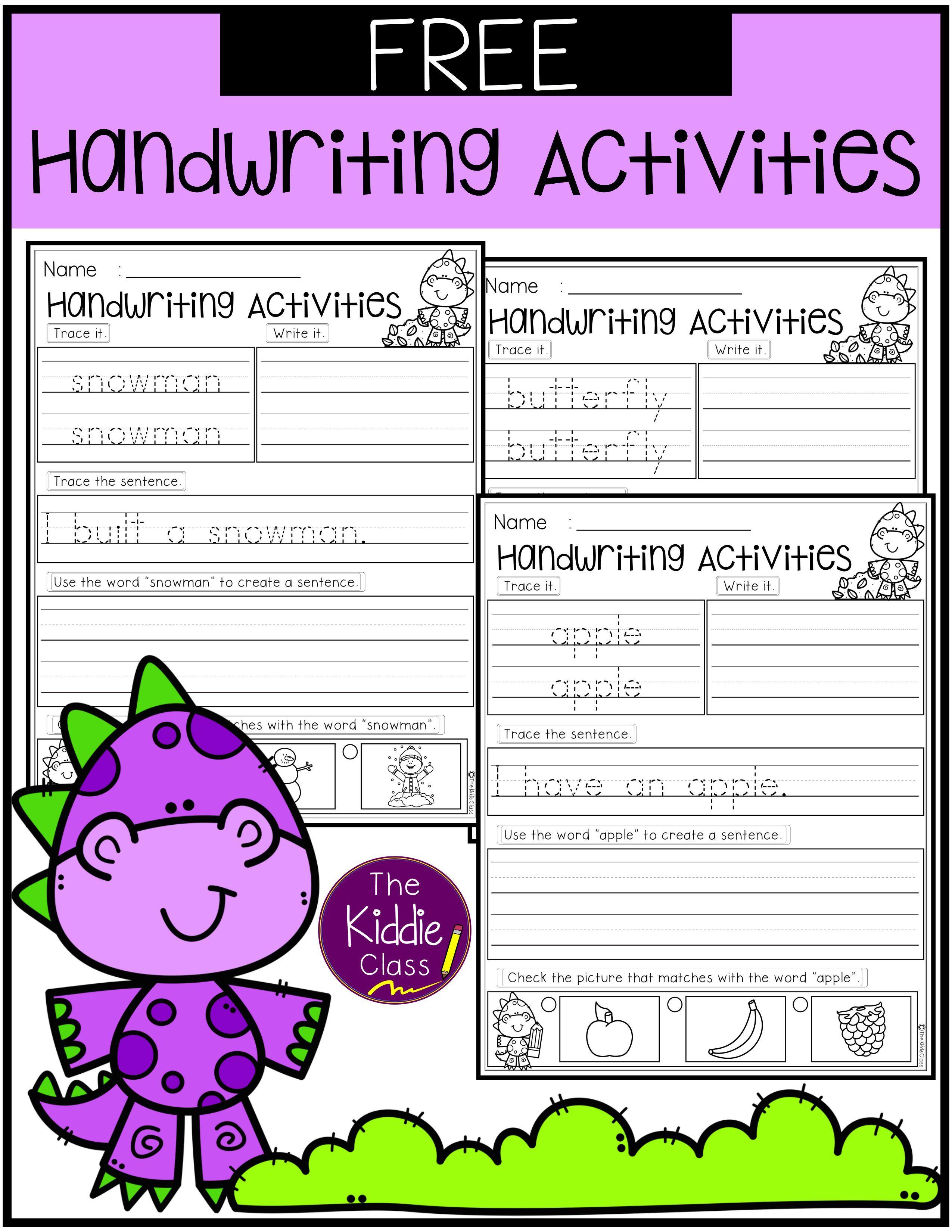 Free Handwriting Activities