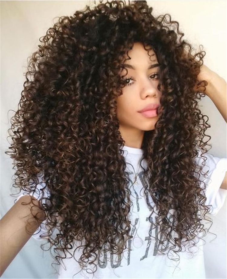 22 Long Curly Hairstyles And Colors 2019 Curly Hair Styles