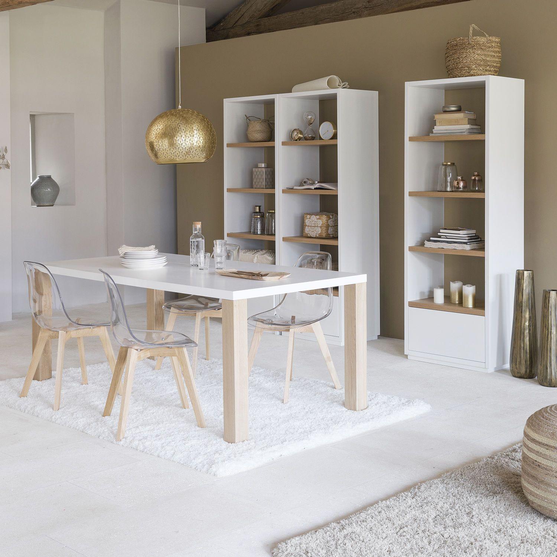 Tavolo Legno Maison Du Monde.Tavolo Bianco In Legno Per Sala Da Pranzo L 200 Cm Coastal