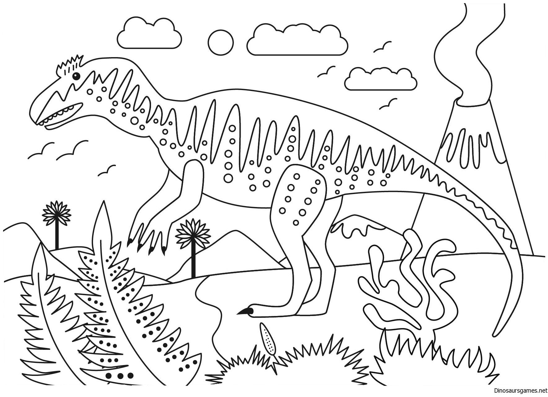 Hi All Find Your Favorite Metriacanthosaurus Dinosaur Coloring