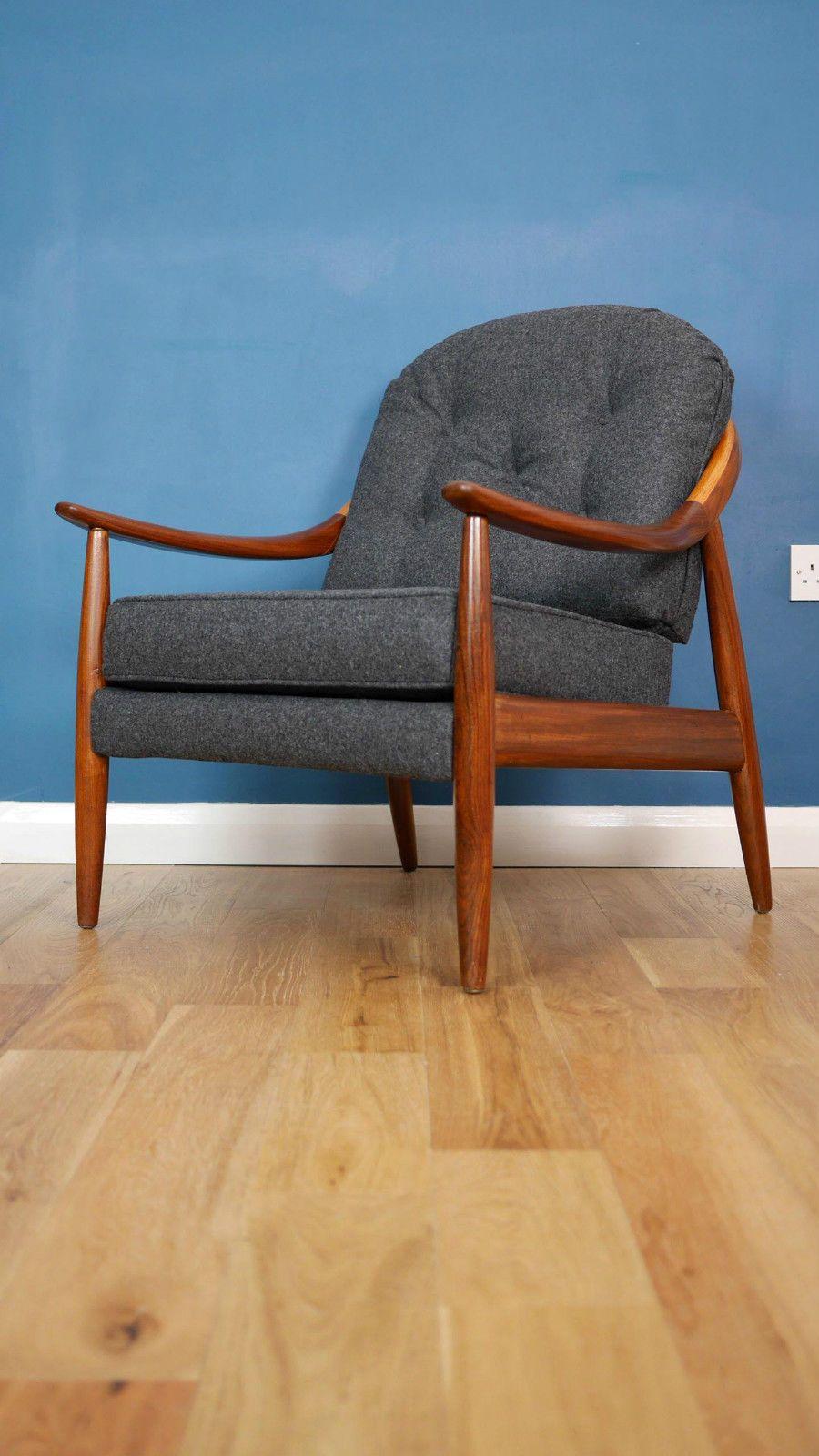 Greaves Thomas 60 S Teak Lounge Chair Heals G Plan Danish Retro Vintage Ebay