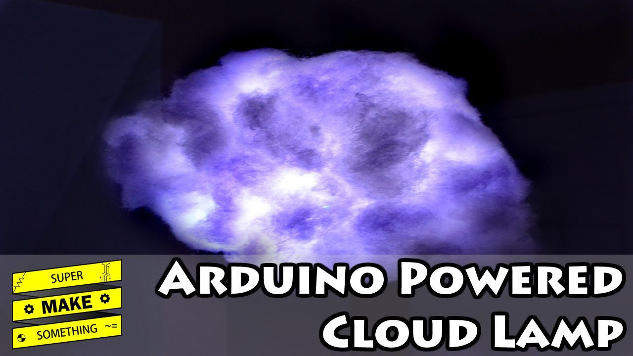 Learn how to make an Arduino powered LED cloud lamp using