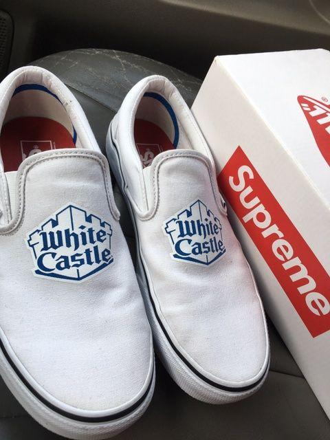 vans x supreme x white castle