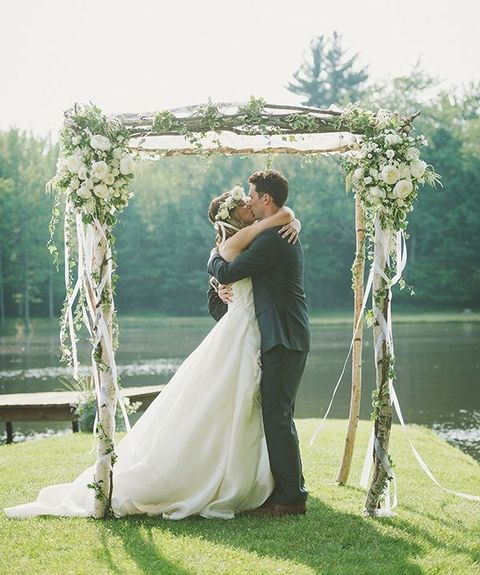 Ribbon decor for your wedding 61 ideas happywedd wedding ribbon decor for your wedding 61 ideas happywedd simple wedding archrustic junglespirit Image collections