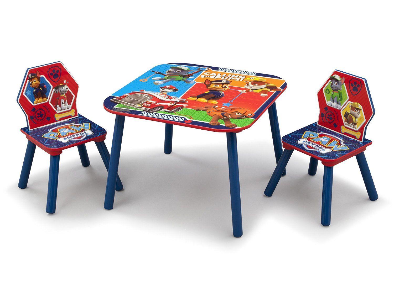 MESA Y SILLAS PAW PATROL DE MADERA. TT89528PW, IndalChess.com Tienda de juguetes online y juegos de jardin