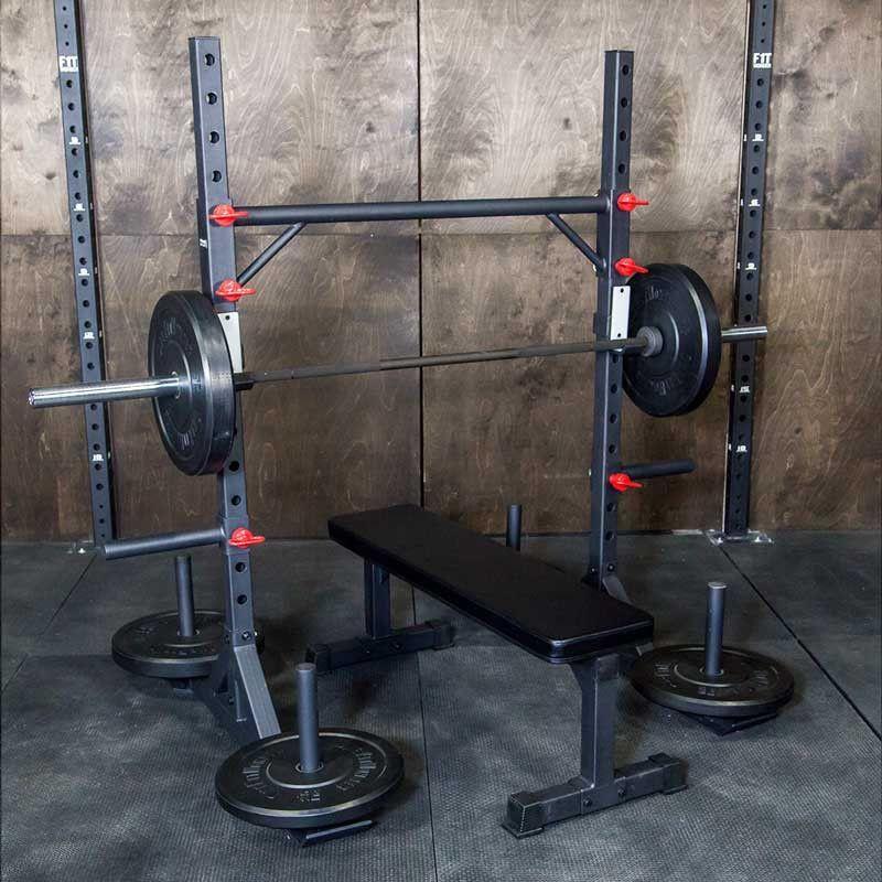 Strongman yoke garage gym squat stands adjustable weights