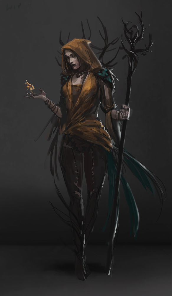 Forest Witch vol.2  WIP by telthona