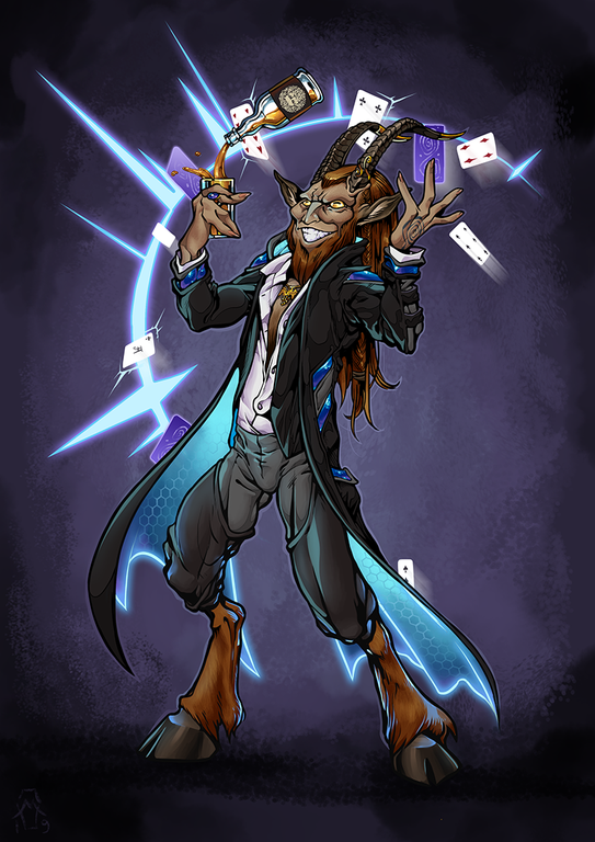 Jake, Illusionist Satyr. Shadowrun (With images