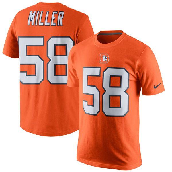 Von Miller Denver Broncos Nike Color Rush Player Pride Name & Number T-Shirt - Orange - $31.99