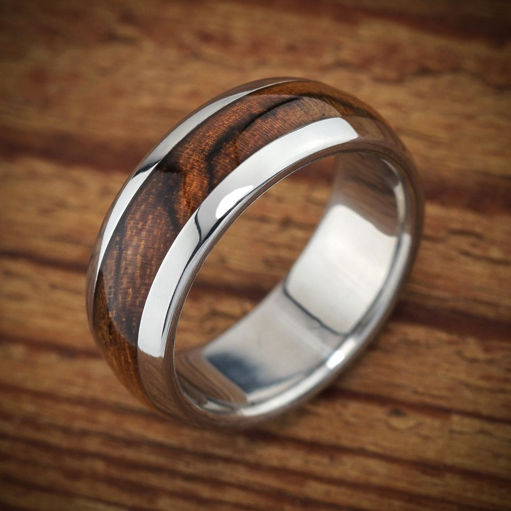 Men\'s wood wedding ring by Spexton.com, unusual wood and titanium ...