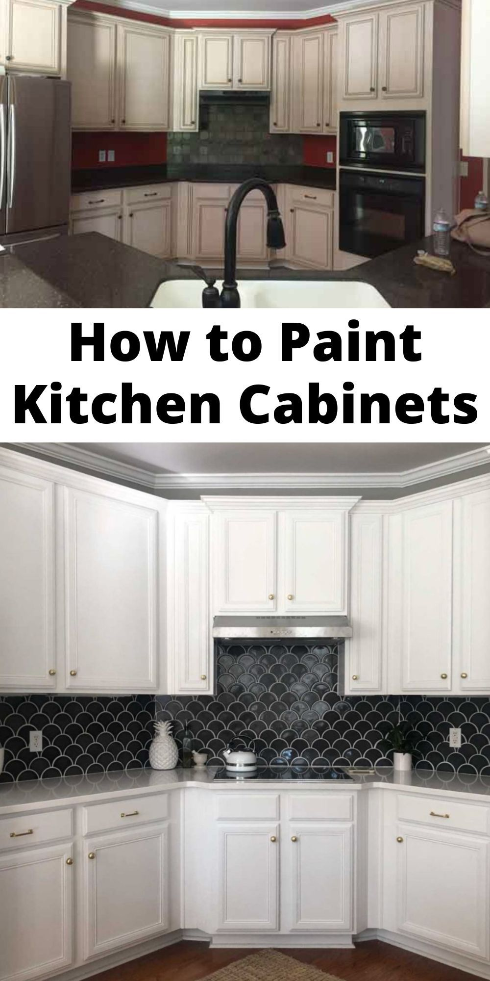 Painting Kitchen Cabinets Is An Inexpensive Way To Update Your Kitchen But It Is A Big Project Le Painting Kitchen Cabinets Kitchen Cabinets Painting Cabinets